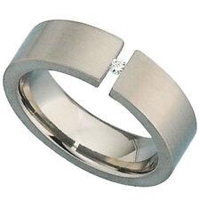 Unbehandelte Echtschmuck-Ringe mit Diamant für Damen