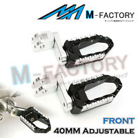 For Yamaha MT-07 13 14 15 16 17 18 39mm Front Foot Pegs Touring Adjustable BLACK