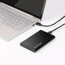 """USB 3.1 Festplatten-Gehäuse extern Gehäuse für 2,5"""" SATA HDD Festplatte Schwarz"""