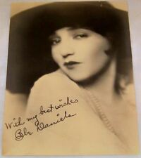 Antique Studio Facsimile Signed Photograph of Early Movie Star Bebe Daniels