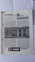 DERRINGTON THE TUNERS COMPETITION TUNING BOOKLET BROCHURE 1966 MG TRIUMPH HEALEY