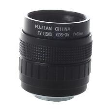 35mm f1,7 C Mount CCTV Objektiv Schwarz fuer M4/3 Kamera  PEN E-PL5  DKKO