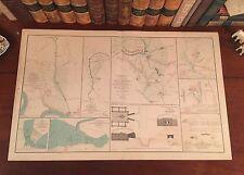 Original Antique Civil War Map BATTLE FIVE FORKS VIrginia VA Fought April 1,1865