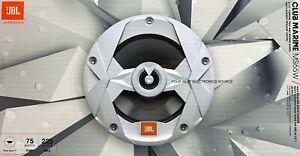 "NEW JBL MS65W CLUB Series 6.5"" Coaxial Marine Speakers WHITE 6-1/2"" (1 PAIR)"