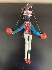 Vintage Black America MARIONETTE Puppet with CELLULOID FACE and MARACAS