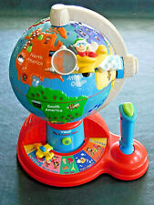 Vtech Fly & Learn Globe Interactive Talking Sounds Geography Language w Battery