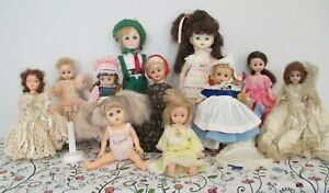 Cute All Vinyl & Vinyl and Plastic Doll Lot, Mostly Vintage
