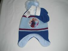 Frozen Anna & Elsa Beanie Hat & Glove Set  Toddler size    Item 102