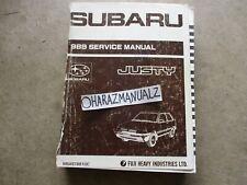 1989 Subaru Justy Service Manual OEM
