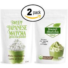 Sweet Matcha Set Green Tea Powder 2 pack from Japan (2x 12oz)