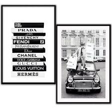 Fashion Art Poster Prints Designer Book Stack Wall Art Bedroom Art Office Art