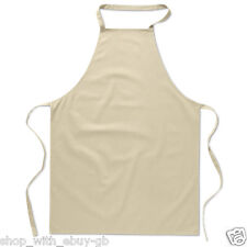 New 100% Cotton Plain Apron Cooking Crafts Kitchen Chefs Workwear Bright Colours