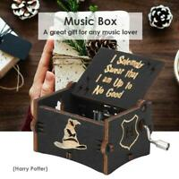 """Harry Potter"" Vintage Wooden Music Box Hand Cranked Crafts Ornaments Kids Gift"