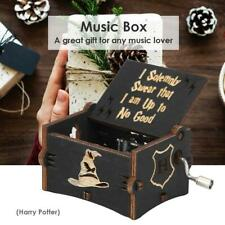 """Harry Potter"" Vintage Wooden Music Box Hand Cranked Crafts Ornaments Kids Gift"