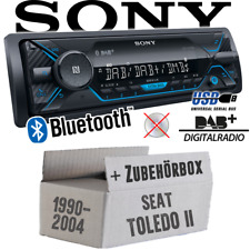 Sony Autoradio für Seat Toledo 2 1M DAB+/Bluetooth/MP3/USB Radio Auto Einbauset