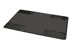 Rolling 44 in. x 30 in. BBQ Grill Mat Protective Deck Patio Grilling Pad, Black