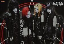 SATAN - A3 Poster (ca. 42 x 28 cm) - Gothic Band Clippings Fan Sammlung NEU