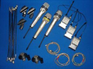 Sennheiser SET 3x Microphone SKM-4031, Transmitter SK2012 ; System EM1036 uvm.