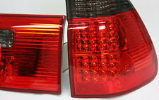 LED RÜCKLEUCHTEN HECKLEUCHTEN SET BMW E53 X5 99-03 ROT SCHWARZ RED SMOKE CRYSTAL