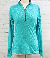 NIKE Element Half Zip Running Long Sleeve Shirt Womens S Thumb Holes Reflective