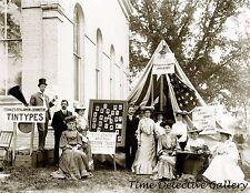 Tintype Photography Tent of Miss. F.B. Johnson - 1903 - Historic Photo Print