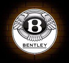 BENTLEY BADGE SIGN LED LIGHT BOX MAN CAVE GARAGE CAR WORKSHOP GAMES ROOM  GIFT