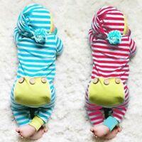 Infant Newborn Baby Boy Girl Kids Cotton Bodysuit Romper Jumpsuit Clothes Outfit