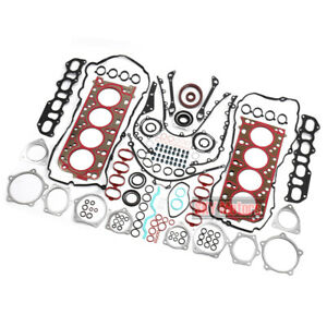 Engine Gasket Seals Rebuilding Kit For 4.8T V8 Porsche Cayenne Panamera Turbo
