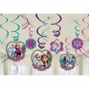 FROZEN Swirl Decorations Party Birthday Kids Supplies Disney