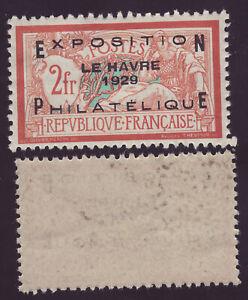 FRANCE 257 A - Exposition du Havre - 2 Fr surchargé