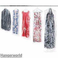 Hangerworld™ Clear Polythene Garment Covers Clothes Suit Dress Dry Cleaner Bags