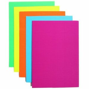 "30x Corrugated Cardboard Sheets Paper for Invitation Neon Colors 8.5 x 11"""