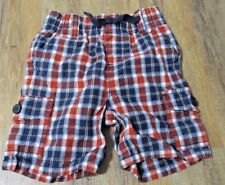 Gymboree BEACH CRAWLER navy and red plaid shorts size 12-18 months