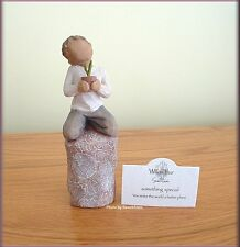 SOMETHING SPECIAL FIGURINE BOY WITH PLANT FROM WILLOW TREE® FREE U.S. SHIPPING