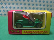 Vintage -  RENAULT  2 Seaton  1911    -    Matchbox  N° Y-2    Mint box