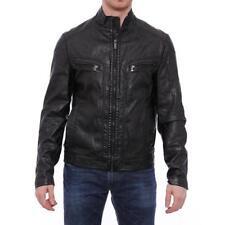 Abrigos y chaquetas de hombre motera negro