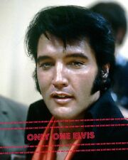 ELVIS PRESLEY 1969 Press Conference August 1969 Las Vegas 8x10 Photo UP-CLOSE