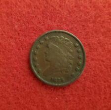 1835 U.S. Half Cent Coin. VF!