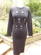 Calf Length Patternless Long Sleeve Tall Dresses for Women