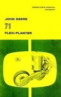 John Deere 71 Flexi Vegetable Planter Operators Manual