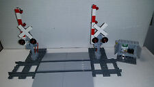 Lego Train Crossing Complete Track,Crossing &Gates 60098 60052 60051 10219 3677