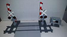 Lego Train Crossing Complete Track,Crossing &Gates 60098 60052 60051 10219 3677