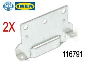 (2) x IKEA # 116791 New Bed Frame Mounting Plate. Malm, Hemnes, Hopen