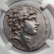 ALEXANDER I BALAS Seleukid Ancient Silver Greek Tetradrachm Coin NGC ChAU i62341