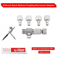 "Airbrush Quick Release Coupling Disconnect Adapter 1/8"" Plug Fitting Part HS941"