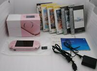 PSP-3000 Console BLOSSOM PINK w/ Box Charger & 6Games Japan PlayStation Portable