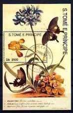 Papillons Saint Thomas et prince (21) bloc oblitéré
