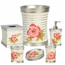 Popular Bath Madeline Beige Collection 6 Piece Bathroom Accessory Set