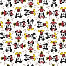 Disney Mickey Mouse and Friends Minnie Mouse White Cotton Fabric Fat Quarter