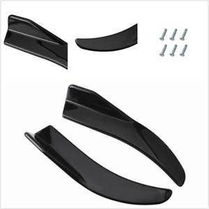 2Pcs Diffuser Splitter Spoiler Winglets Kits Universal Fits For Car Rear Bumper